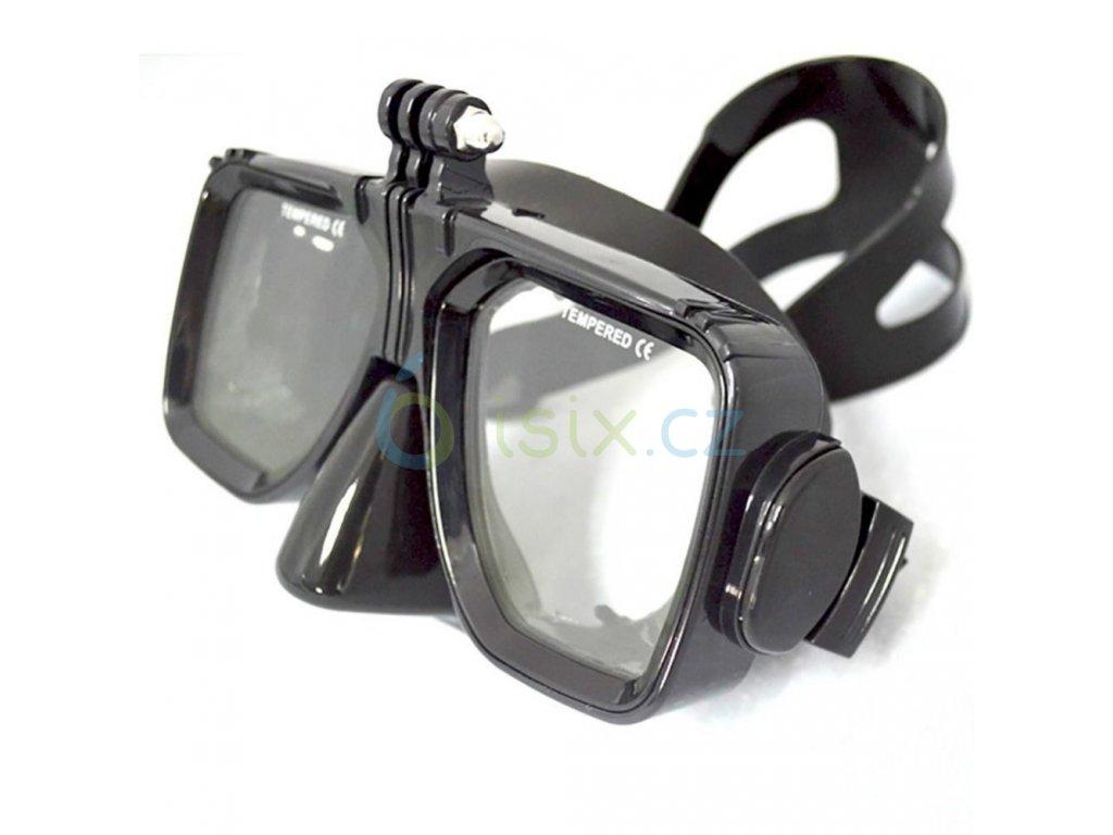 Potápěčské brýle s úchytem pro kameru
