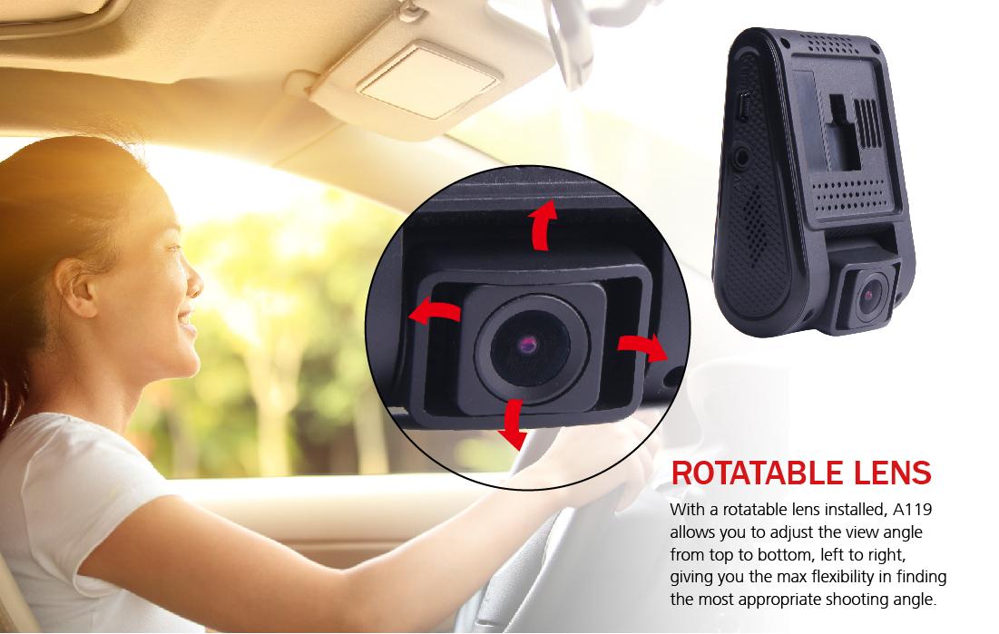 Pohyblivá čočka autokamery