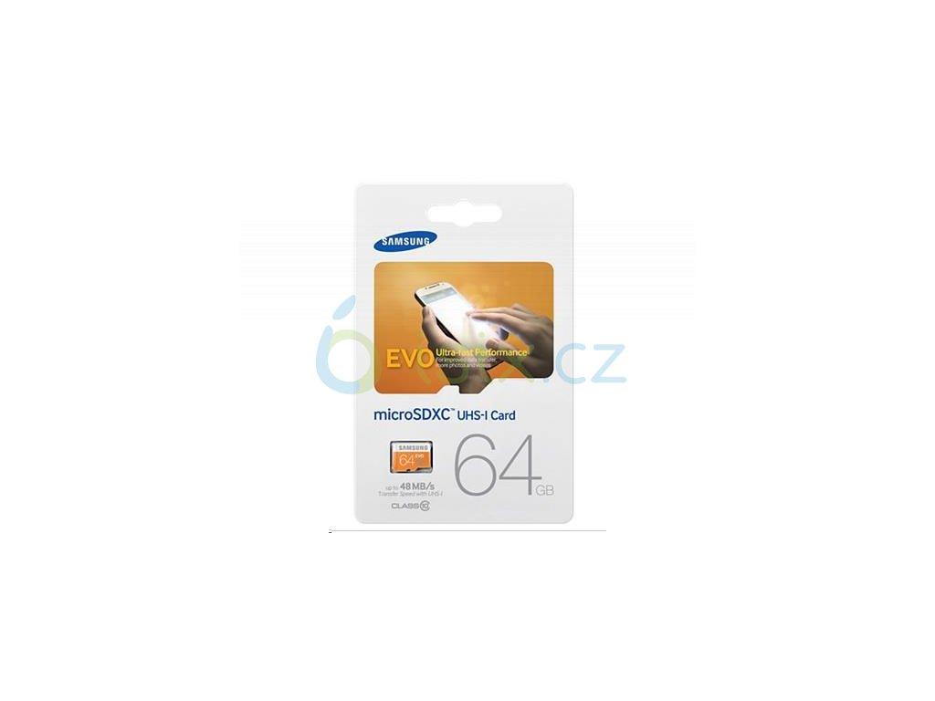 Samsung PAMĚŤOVÁ KARTA 64 GB micro SD karta kompatibilní s SJCAM a Gitup !