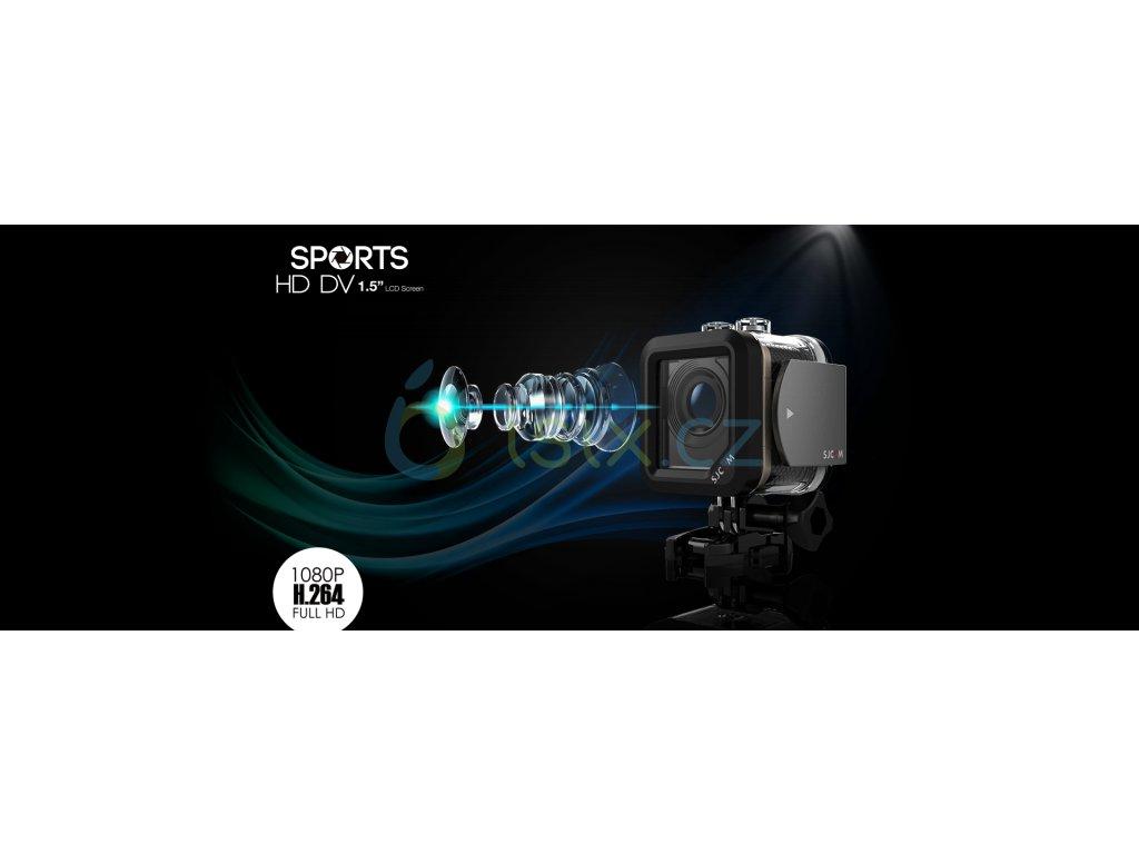 SJCAM M10 WIFI sportovní kamera černá CZ menu + Velká tlačítka na vodotěsném obalu