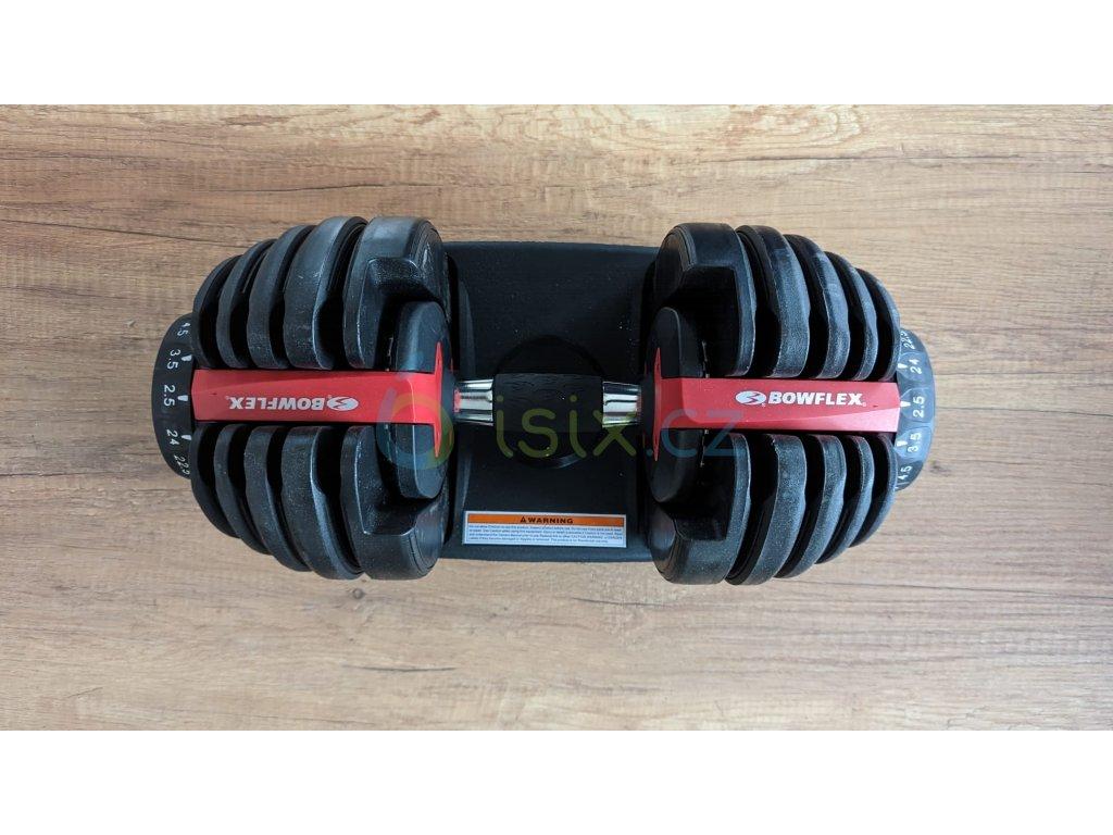 Set dvou nakládacích jednoručních činek BOWFLEX select TECH 552 2,5-24 kg  EU verze s kilogramy
