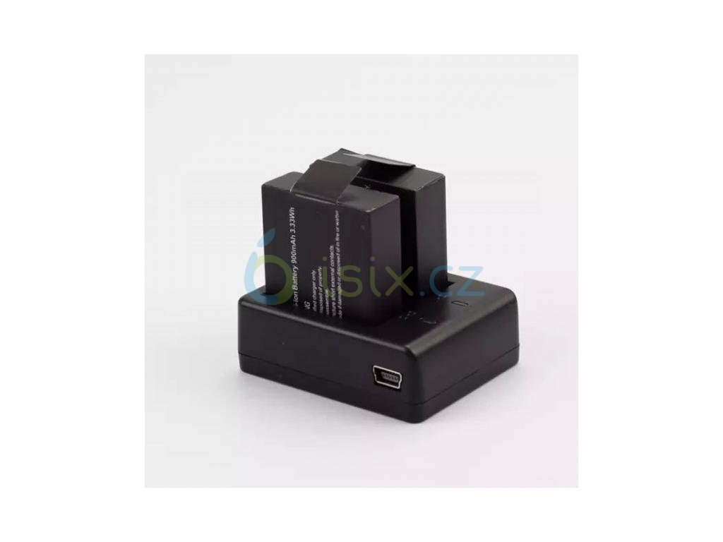 Duální externí nabíječka baterii pro SJCAM i GITUP se signalizací nabíjení i nabití