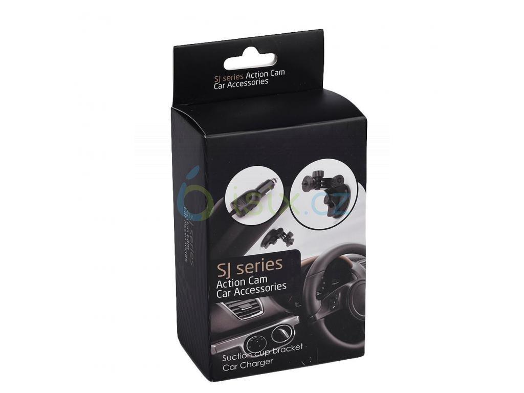 Nabíječka a přísavka set pro přichycení sportovní kamery do auta Konektor micro usb