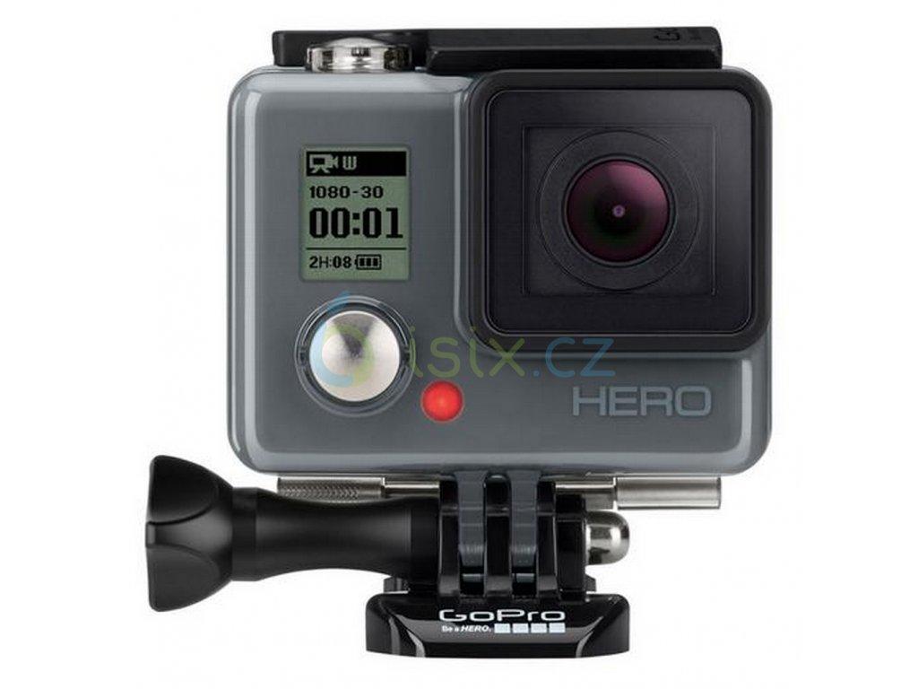 GoPro HERO edition kamera, Full HD, integrovaná do vodotěsného krytu, šedá