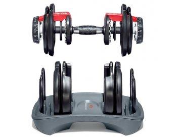Jedna nakládací jednoruční činka BOWFLEX select TECH 552 2,5-24 kg  EU verze s kilogramy