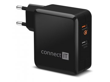 connect it inwallz cwc 3010 bk quick charge 3 0 2x usb 3 4a cerny i274698
