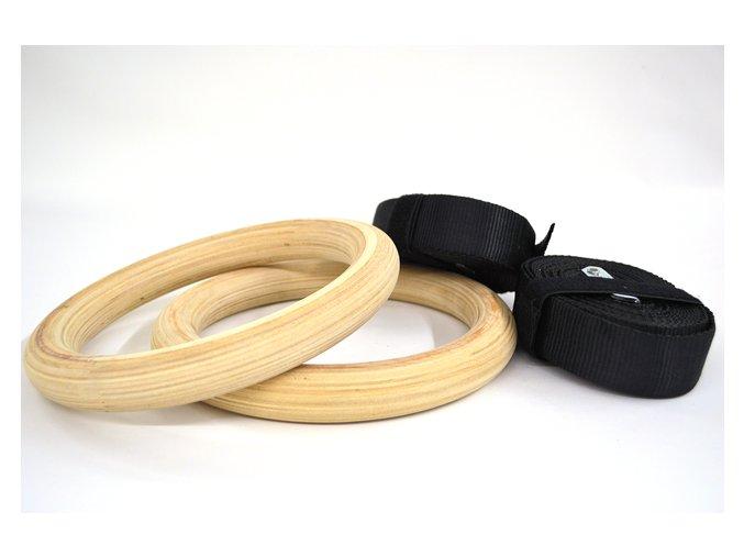Gymnastické kruhy dřevěné