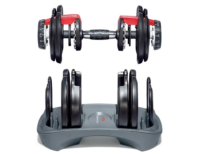 Jedna nakládací jednoruční činka BOWFLEX select TECH 552 2,5-24 kg
