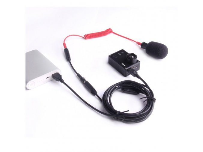 mini usb 35mm external microphone and charging cable for gitup git2git2p (2)
