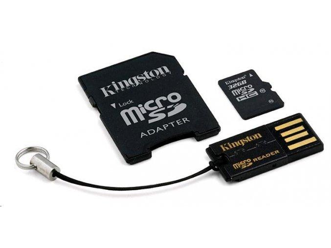 Kingston 32GB Multi Kit / USB Mobility Kit - MicroSDHC 32GB (Class 10) + čtečka + USB adaptér
