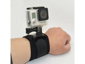 Velcro Wrist, držák na zápěstí otočný nebo pevný pro Gopro, Sjcam, gitup
