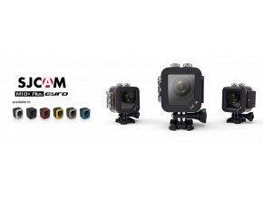 SJCAM M10 Plus sportovní kamera černá CZ menu  + VELKÁ TLAČÍTKA NA VODOTĚSNÉM OBALU