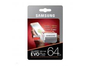 Rozbalený kus Samsung Micro SDXC 64GB EVO Plus (UHS-3) + SDXC adaptér