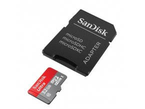 32GB SanDisk Ultra micro SDHC + SD adaptér
