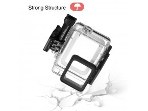 puluz gopro hero5 45m waterproof housing case with quick release mount and screw 8