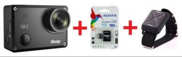Sportovní kamera GitUp™ GIT2 Oficiální distribuce! varianty: Černá, Karta 32GB, Dálkový ovladač