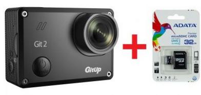 Sportovní kamera GitUp™ GIT2 Oficiální distribuce! varianty: Černá, Paměťová karta 32 GB