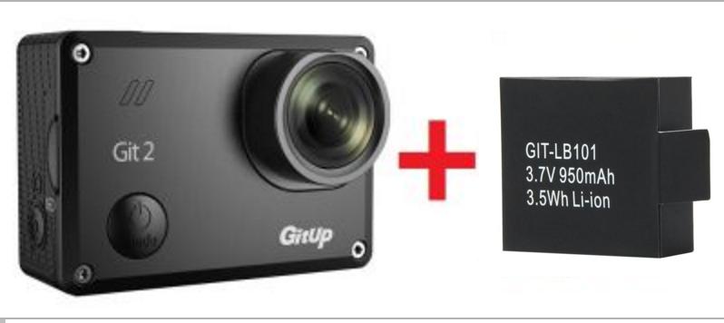Sportovní kamera GitUp™ GIT2 Oficiální distribuce! varianty: Černá + další baterie