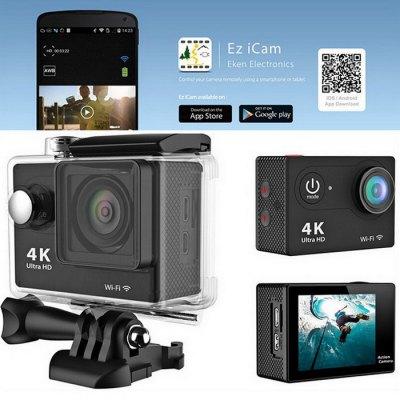EKEN H9R Ultra HD 4K Sportovní kamera s ČESKÝM MENU a dálkovým ovladačem Barva: Černá
