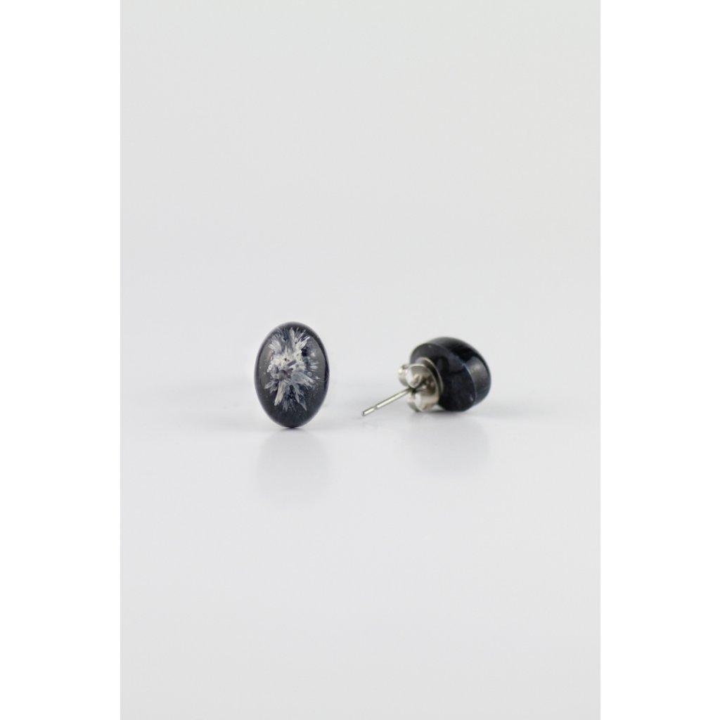 Náušnice Black & White 165