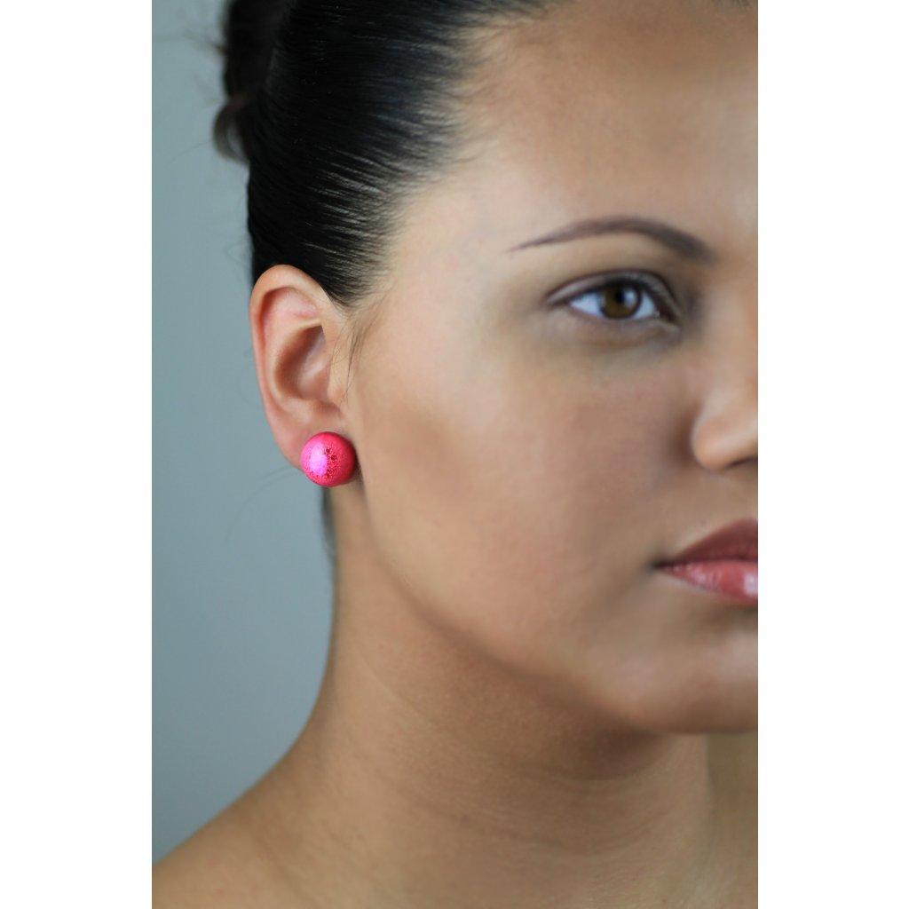 Náušnice Pink Eye 186
