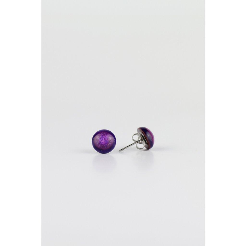 Náušnice Purple Dots 204