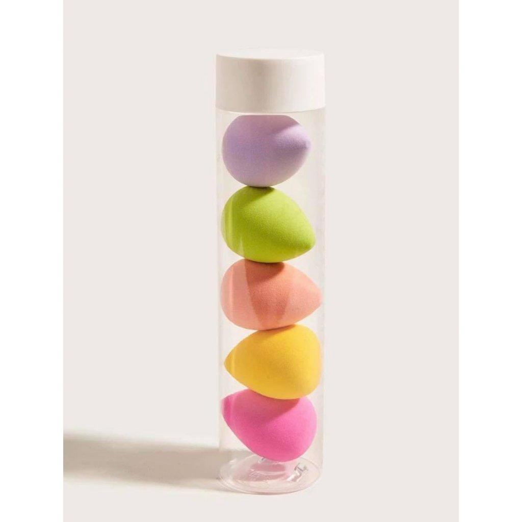 5 ks houbiček na make up – mix barev