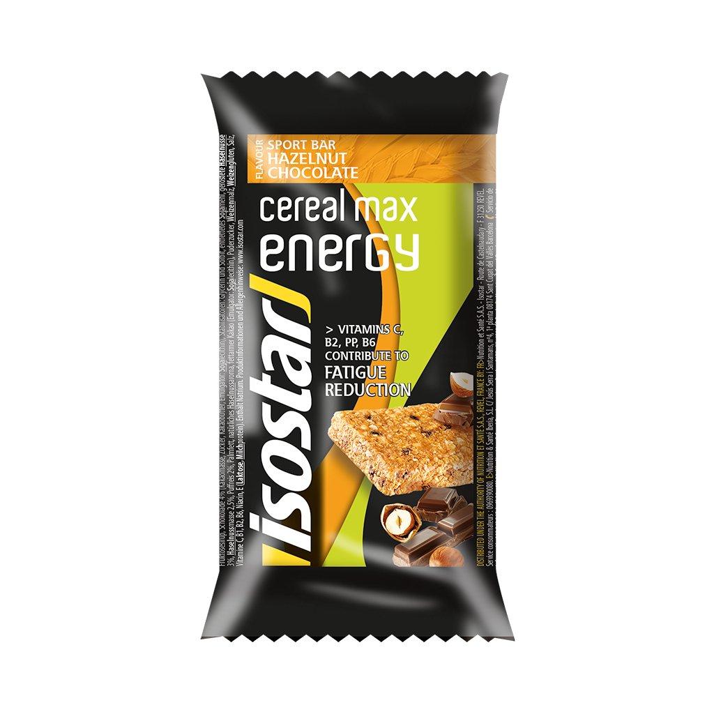 1010 1 isostar cereal max bar 55g liskovy orech cokolada