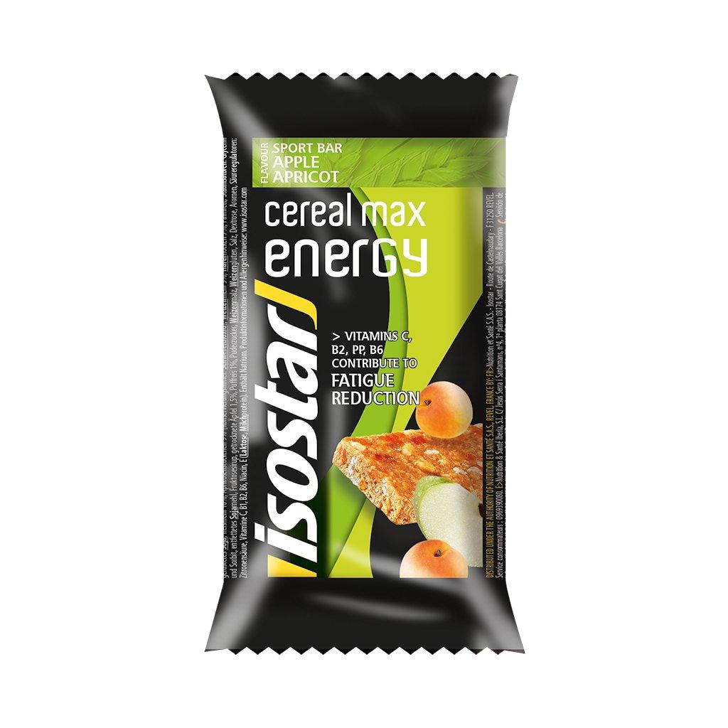 1016 isostar cereal max bar 55g jablko merunka