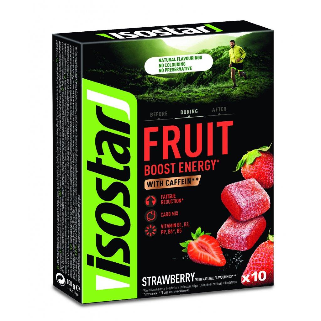 Isostar ENERGY FRUIT BOOST 10x10g JAHODA