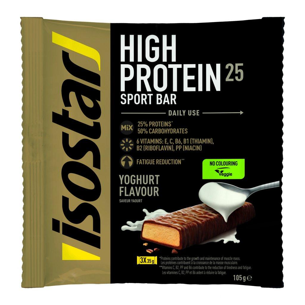 3D Isostar High protein 25 saveur yaourt Flowpack 3 x 35 g ENG FR DE NL IT 8 CMJN 300dpi