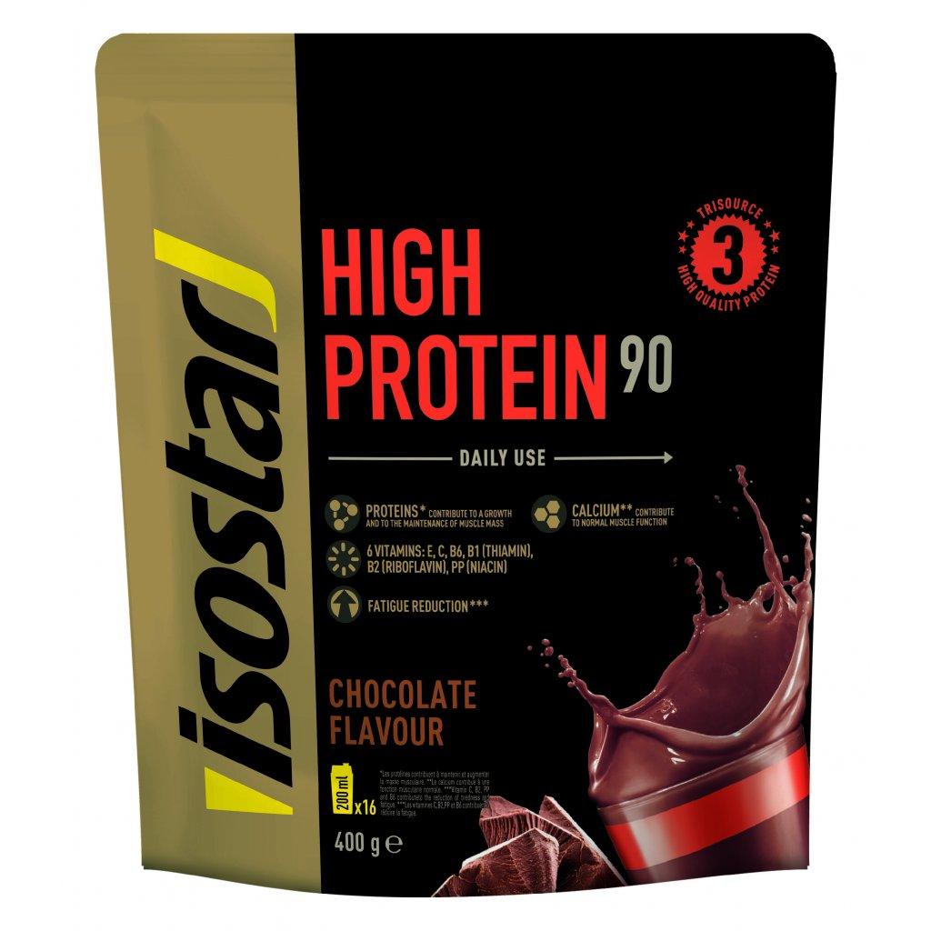 3D Isostar High Protein 90 saveur Chocolat Doypack 400 g ENG FR ES NL DE IT 7 CMJN 300dpi Copie