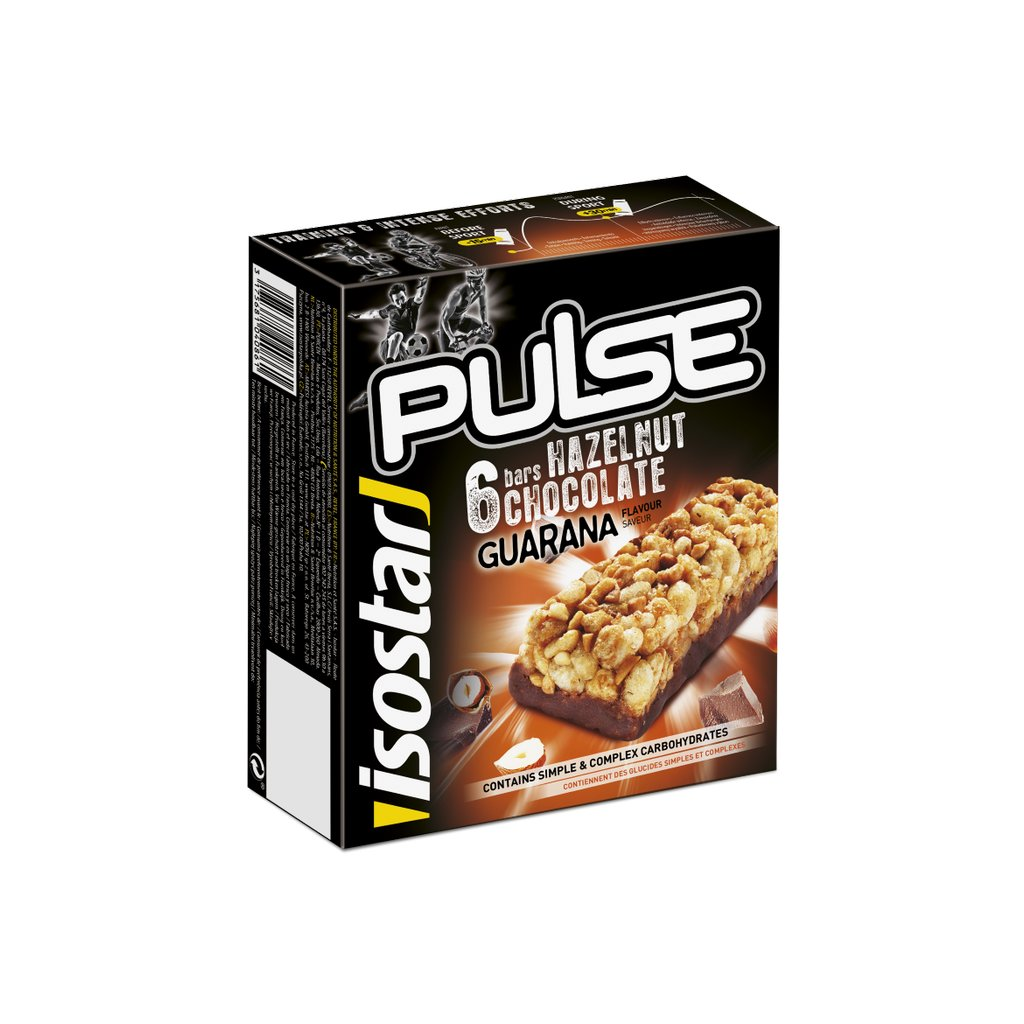 195087 isostar 6x29g bar pulse hazelnut chocolate