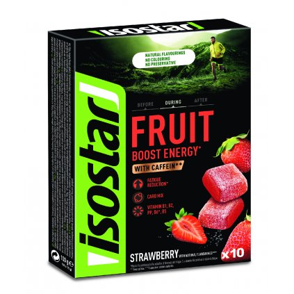 Isostar ENERGY FRUIT BOOST 10x10g JAHODA