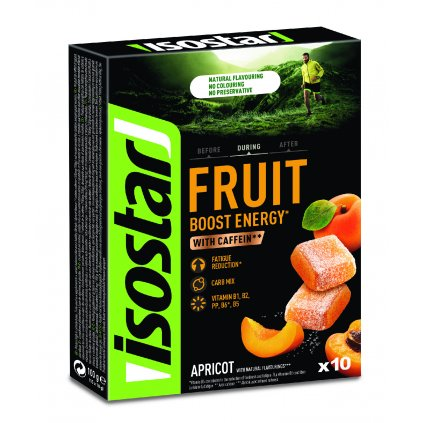 ISOSTAR FRUIT BOOST APRICOT 10X10G GREEN
