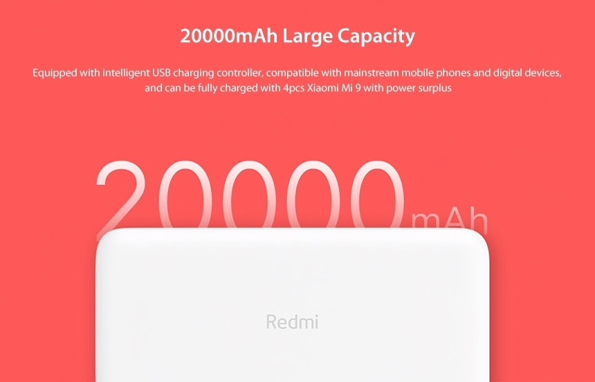 Xiaomi 20 000 mAh Redmi 18W Fast Charge Power Bank test