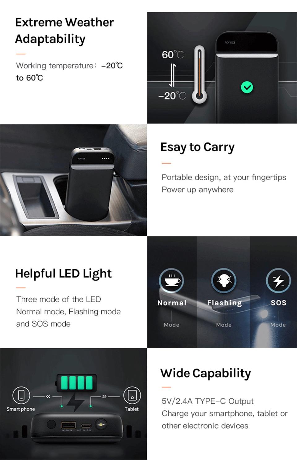 Xiaomi 70 Mai Car Jump Starter - Multifunkční baterie skladem cena