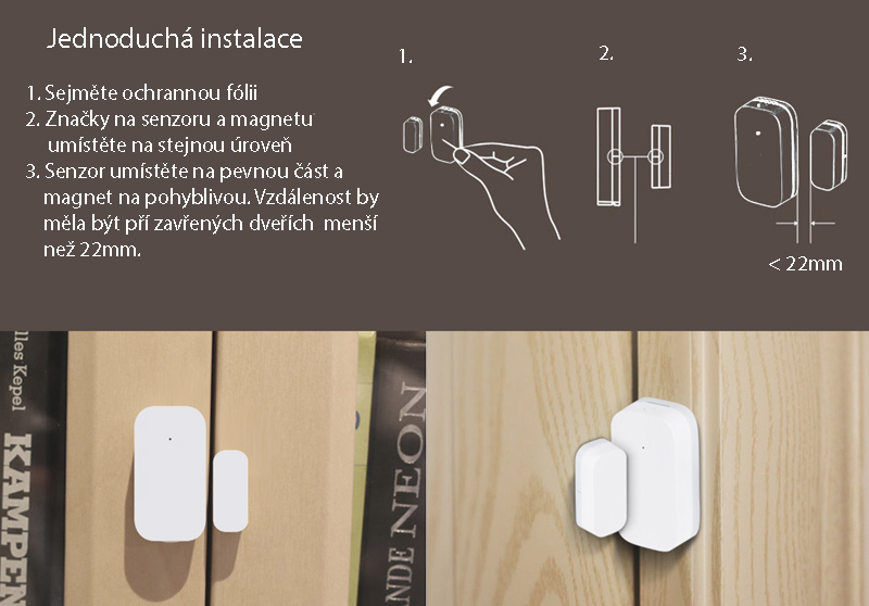 Xiaomi Aqara Door and Window sensor Senzor dveří a oken 7