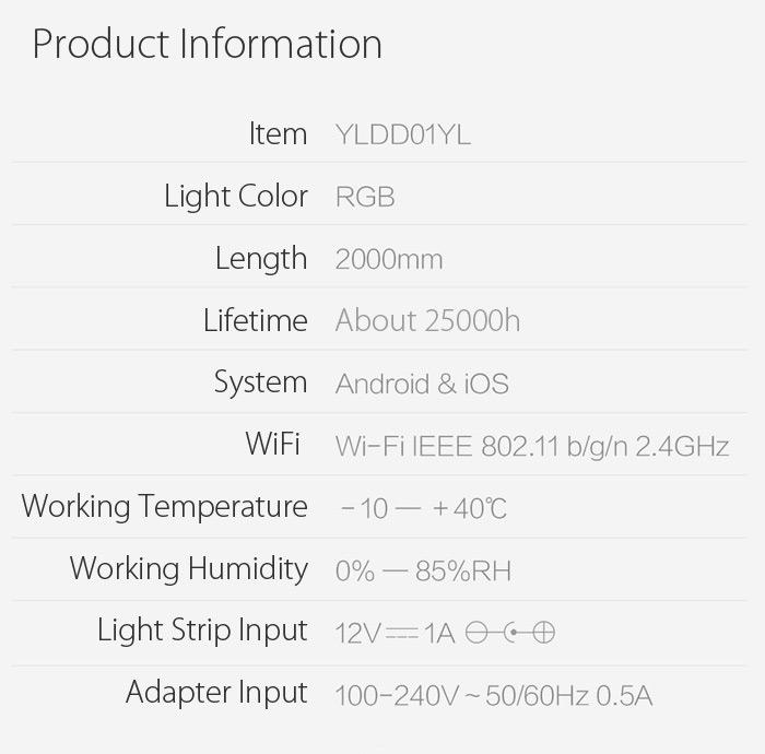 Xiaomi Yeelight Strip - Chytrý barevný Led pásek osvětlení nastavitelné mění barvy istage xiaomimarket bezdrátové  rgb