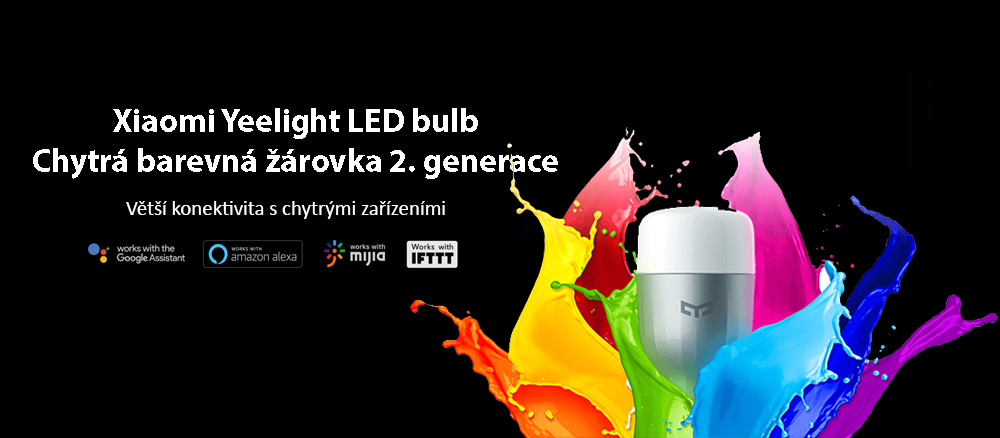 Yeelight chytrá žárovka amazon alexa google assistant