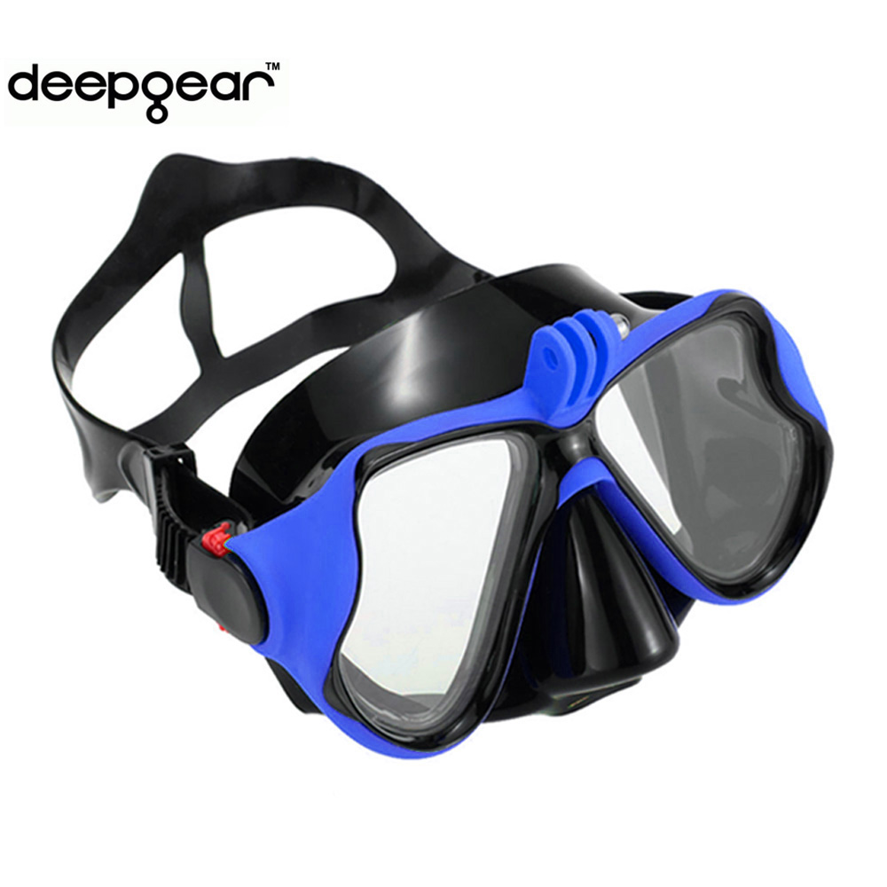 Deepgear-sea-dive-mask-Top-adult-camera-mount-scuba-mask-to-Gopro-Black-silicone-blue-snorkel-1
