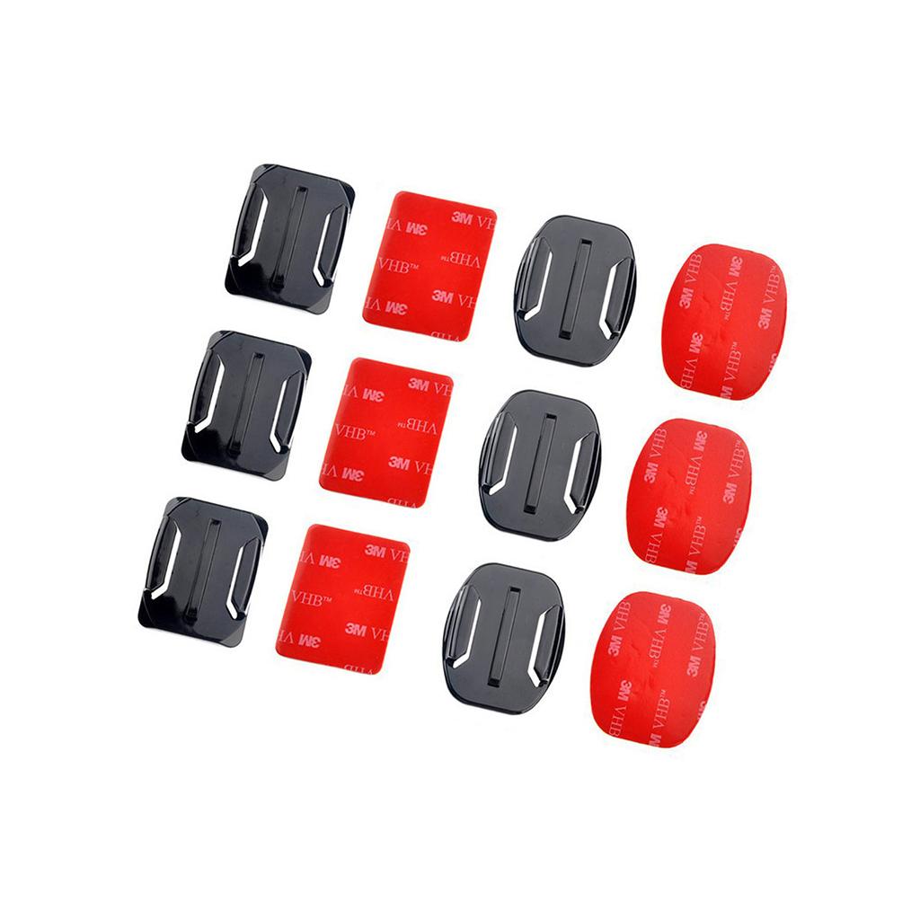GOPRO Nalepovací držáky (3 ploché + 3 zahnuté)