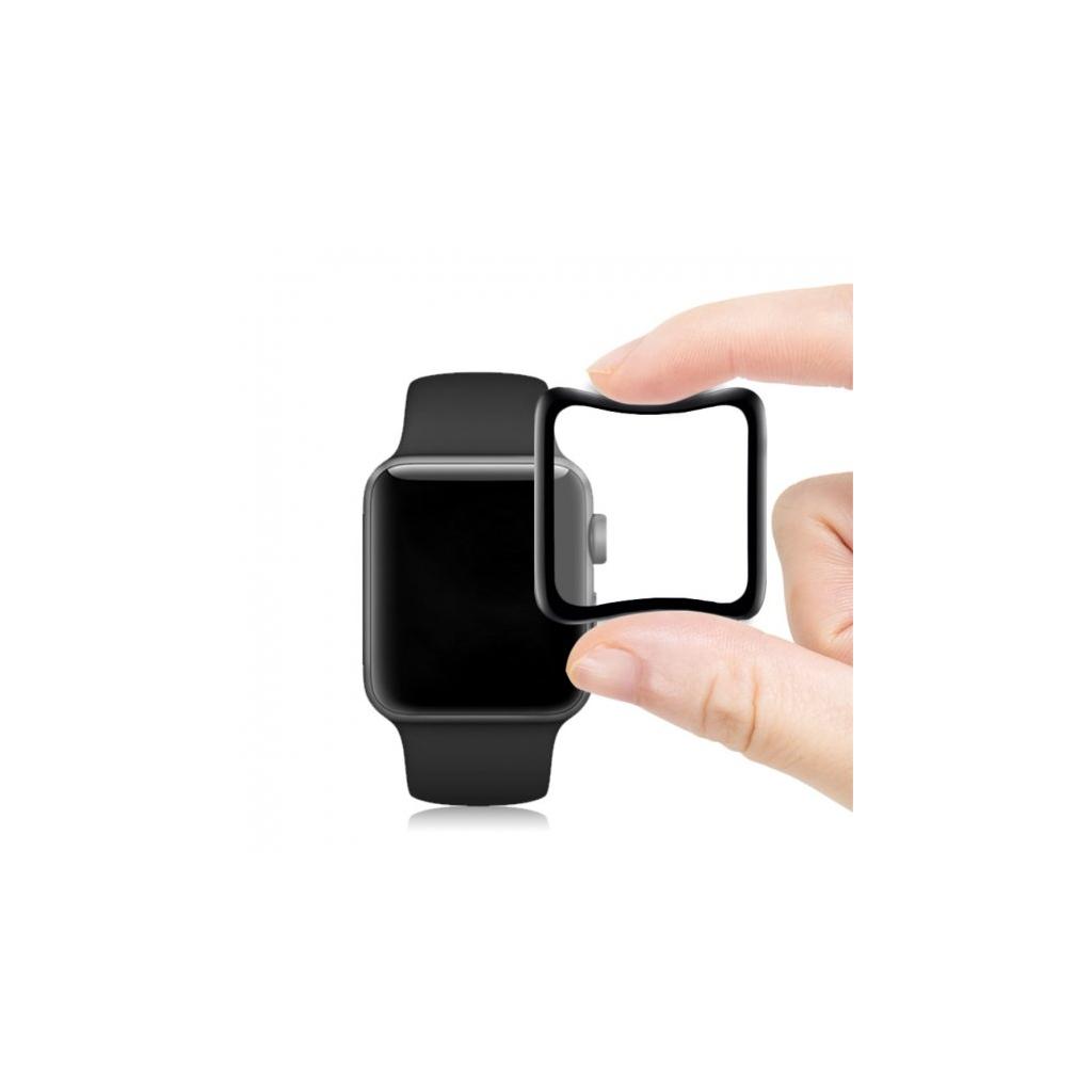 mocolo tvrzene 3d sklo s mekkou hranou pro apple watch 40mm cerne (1)