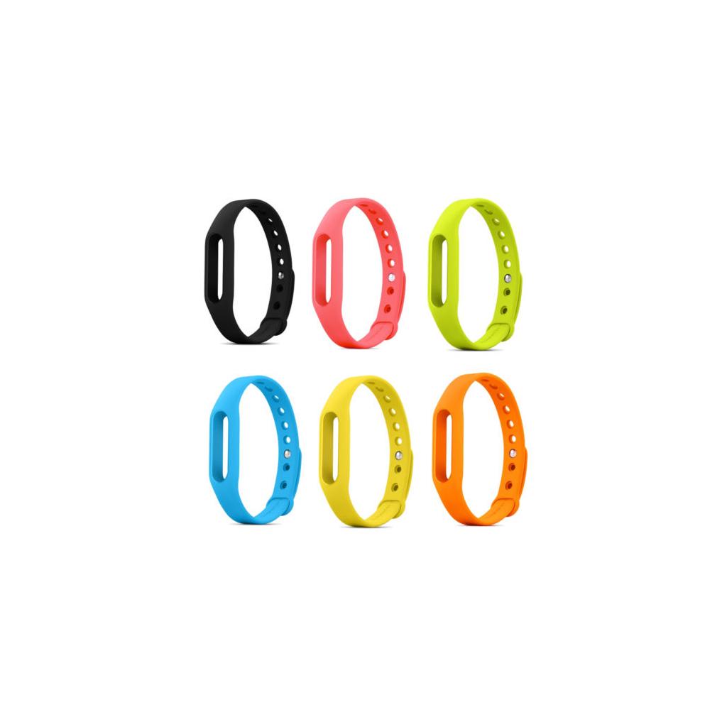 náhradní náramek mi band 1s barevný vyměnitelný černý růžový zelený modrý žlutý oranžový chytrý náramek