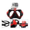 Potápěčské brýle s držákem pro GoPro a sportovní kamery maska