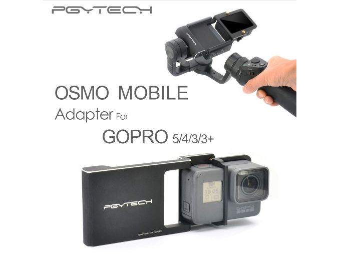 PGY Gopro Hero 5 4 3 accessories Adapter switch mount plate for DJI osmo mobile gimbal