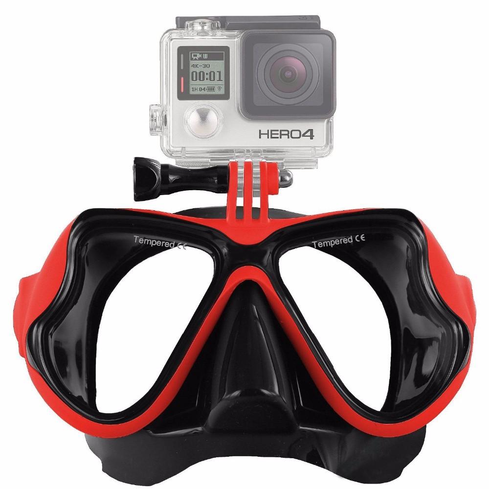 OEM Potápěčské brýle s držákem pro GoPro a sportovní kamery - Diving mask Barva: ČERVENÁ