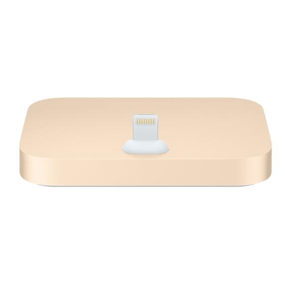 PRO iPhone Lightning Dock - hliníkový stojánek Barva: Zlatý