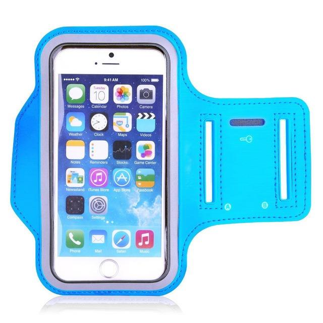 """Stylový sportovní obal na běhání pro iPhone 6/6S/7 - 4,7"""" Barva: Černý"""