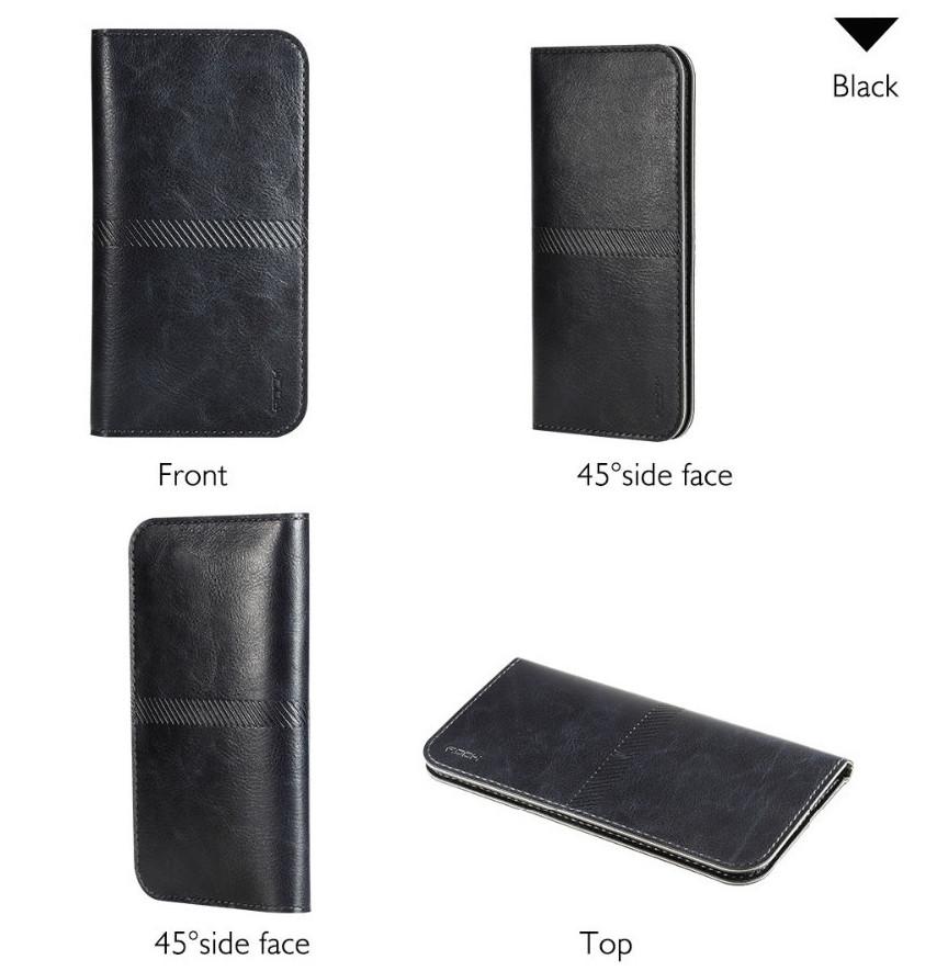 PRO Leaher wallet - kožené pouzdro na telefon a karty Barva: ČERNÉ